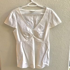 Banana Republic short-sleeved v-neck dress shirt